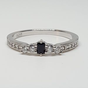 Jewelry - Sterling Silver Black CZ Ring